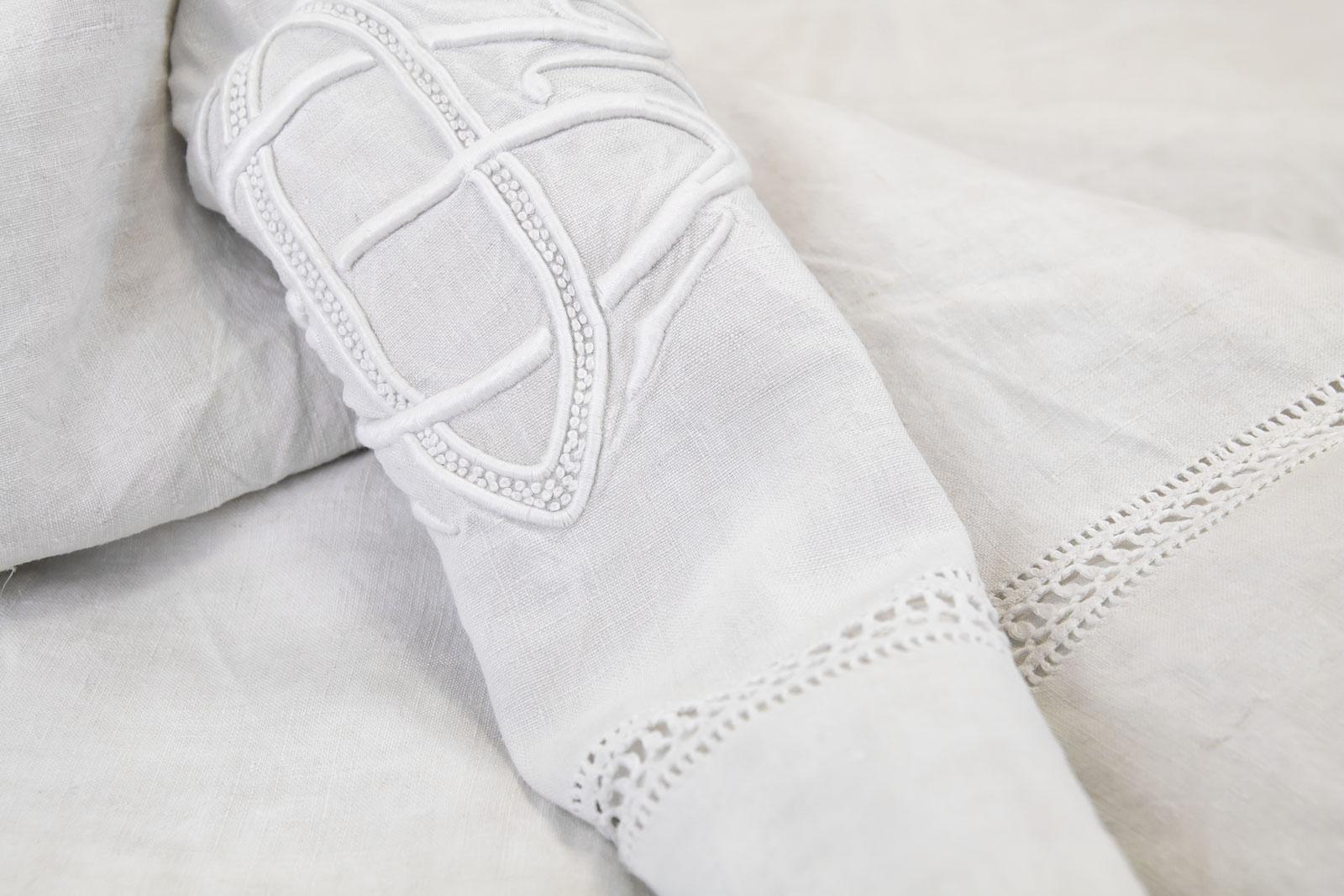 Margherita pure linen flat sheet